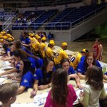@McNeeseBaseball and #TF36 signing autographs at KIDS DAY at burton coliseum!! Great finish @McNeeseWBB http://t.co/f3dTjFqyVj