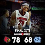 Cards overcome 18 point deficit to knock off UNC in overtime. #L1C4 http://t.co/cRE1whN0HD