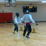 Alfred Knappe Memorial Fencing Tournament @ UNB - under 13. Fencing? Great for kids! #Fredericton #FROSTival http://t.co/JUS6WIQO8Q