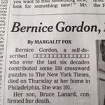 MT @AndrewDasNYT: NYT obits never disappoint: @nytimes: Bernice Gordon Dies at 101 http://t.co/m8gT9W3xRk http://t.co/60hbaJr1Vj
