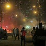 صورة من اشتباكات أولتراس نهضاوى مع قوات أمن الانقلاب بميدان المنيب بالجيزة من قليل #مصر http://t.co/1OXUD54bEN