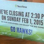 I proclaim Sunday Send Your Employees Home to Watch Hawks win Super Bowl Again Day #GoHawks! http://t.co/Ns6V3TCNqT http://t.co/JvbbUtfTrL