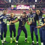 The Legion of Boom!!!  And me... (The little guy in the middle) @seahawks  #MakeThemNotice http://t.co/wI3HT6Z1Km