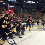 LOOK: The Boston Bruins are ready for the Super Bowl, wear Patriots hats during warmups. http://t.co/BJd3i58JtA http://t.co/4kyRaGSJvu