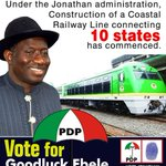 The Rail sector influences the economy positively. Pres GEJ is embarking on connecting states. #WeTriumphStill http://t.co/lc8VcRlwuw