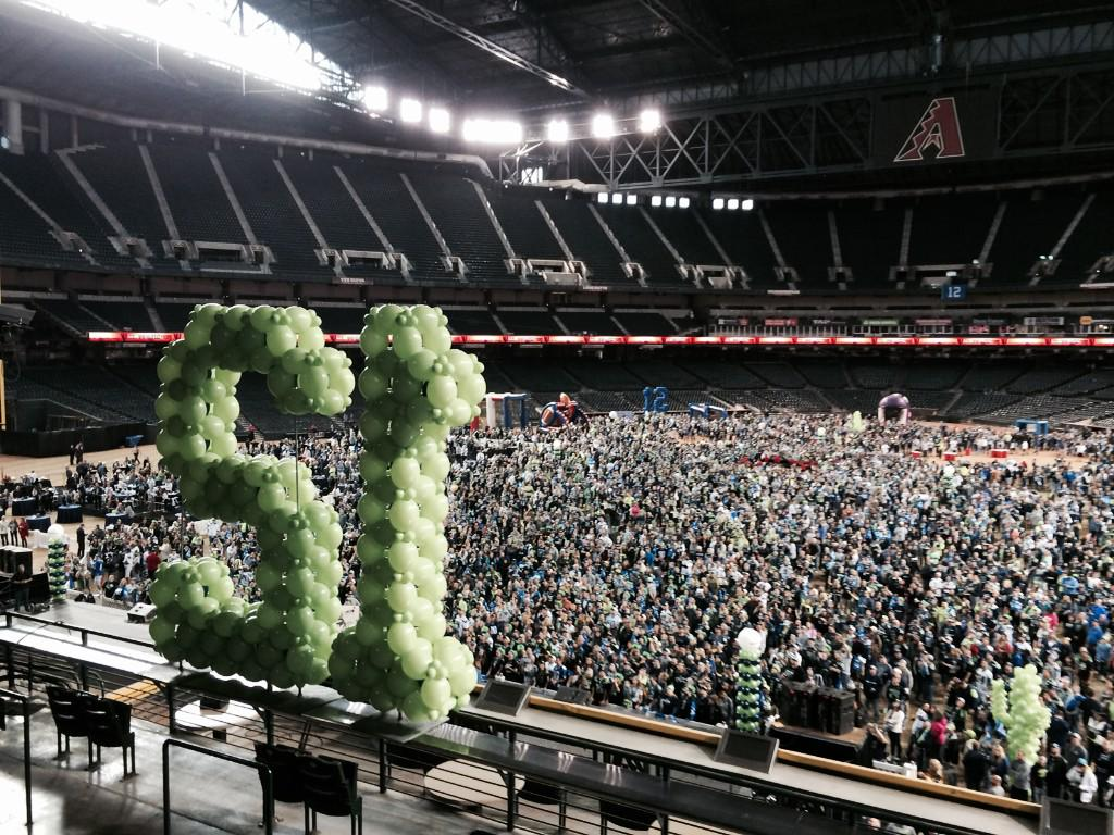 Um, there are a few #Seahawks fans at Chase Field. This is insane. #SB49 http://t.co/ozENyUV4eB