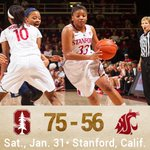Final from Maples. Cardinal moves to 16-5 overall, 8-1 in the @pac12. #GoStanford http://t.co/bndV7ZPGUi