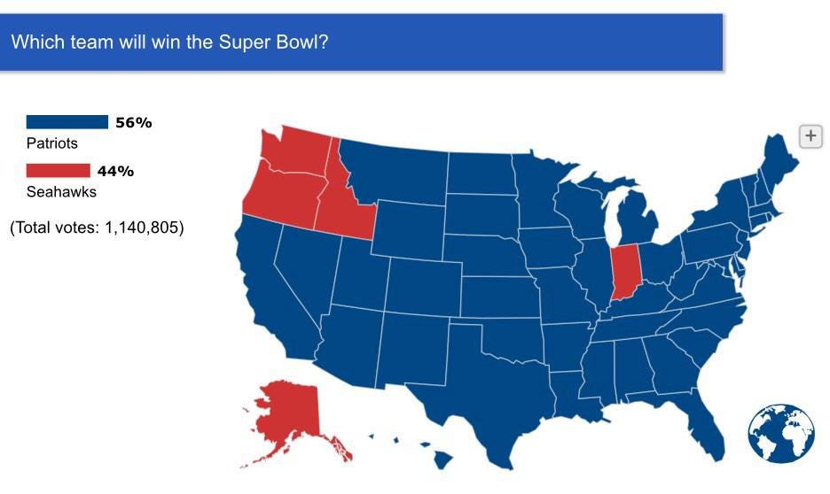 Indiana stands with Seattle. #GoSeahawks #AnyoneButPats   Vote: http://t.co/NUqvHoyb6W http://t.co/nhWKvqSkOL