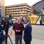 Mike Terry, Pres & CEO of IndyGo talks with Rick Fuson, Pres & COO of the @Pacers abt importance of transit in #Indy! http://t.co/fQafuITLL5