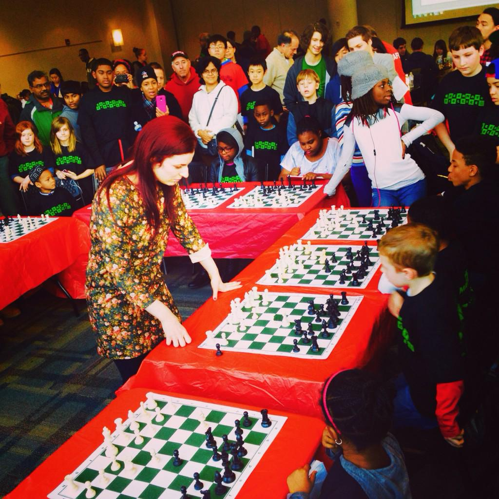 Had a blast giving a simul at #checkmateviolence marathon put on by @PhillyASAP @PECOconnect #phillygirlsplaychess http://t.co/isuBs5WARm