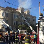 UPDATE: Four-alarm fire contained near Alamo Square in S.F. http://t.co/6exSs0ObRg http://t.co/C6ezuc5eDQ