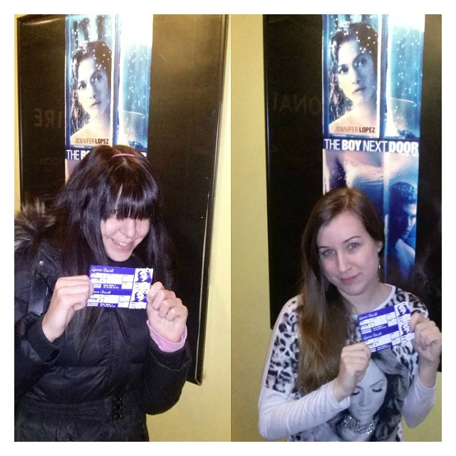 Had so much fun watching #TheBoyNextDoor with my sis @WannaBeLikeJLo !!!! @JLo @BBjlo #WeLoveit #AmazingMovie ❤