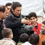 """@JFXM: Kenji Goto cared about Syrians and should be remembered like this. Doing his job. http://t.co/LFNNxxdvlt"""