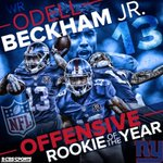 One amazing catch, one phenomenal season. @Giants Odell Beckham Jr. is the Offensive Rookie of the Year. http://t.co/coNJ0VSY5O