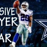DeMarco Murray wins Offensive Player of the Year! Murray blew away everyone to lead the league w/ 1,845 rushing yards http://t.co/DBKxCUJALu