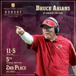 .@AZCardinals HC Bruce Arians is the 2014 Coach of the Year! #NFLHonors http://t.co/N5YMvu2UB4