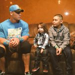 .@JohnCena got some sound advice from Jeremy before his match in #WWEAlbuquerque! @MakeAWish #WWE http://t.co/LiPiazFLyy