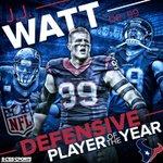 RT @NFLonCBS: 20.5 sacks 10 batted passes 2 defensive touchdowns @HoustonTexans DE @JJWatt is the Defensive POY http://t.co/LAc5HUrFFo