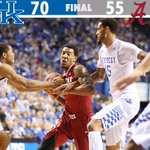 The Wildcats win it 70-55 over Alabama. UK is 21-0, the only remaining undefeated team in the country. http://t.co/k9sh4hK58s