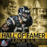 One of the best linebackers of all time, the late Junior Seau led the @Chargers to their lone Super Bowl appearance. http://t.co/PSIrZTWmXK