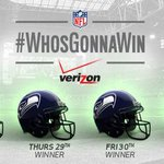 The latest pick for #WhosGonnaWin? It's the @Seahawks with the Light Show victory! http://t.co/edfpFIjT20