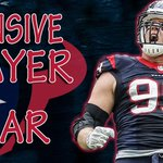 J.J. Watt wins Defensive Player of the Year!! Watt became first player with 20+ sacks in 2 separate seasons http://t.co/1X24FKCer2
