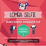 Sambil berburu tiket #WorkshopMenulisSintaYudisia. Yuk ikut lomba selfie dengan buku karya anggota FLP :) http://t.co/HlVypVO21L