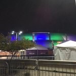 University of Phoenix Stadium changed from official Super Bowl colors to Seahawks colors. Foreshadowing? http://t.co/MLr5FYu9TV