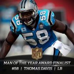 Congrats to #Panthers OLB Thomas Davis on winning Walter Payton Man of the Year Award! Definition of a Damn Good Dawg http://t.co/5jV20YA4js