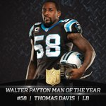 Congratulations to Panthers LB Thomas Davis on the NFL Man of the Year award #WCNC http://t.co/whzdid9f1I