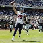 Congrats to J.J. Watt on an incredible season! 20.5 sacks, 3 RECEIVING touchdowns and 2nd in MVP voting http://t.co/soAlvxIWTu