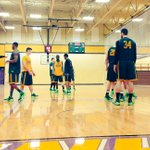 The Bison have arrived at Western Illinois. Quick practice tonight before tomorrows 2 p.m. game. http://t.co/4IzCWYrxUn