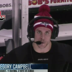 Gregory Campbell rocking the @Patriots 'Do Your Job' beanie on the NHL Network's Arena Cam http://t.co/GposfmPrhf