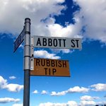 Whatever your politics, this is pretty funny. Pic taken by @TheAmandaWoods in northern NSW. #auspol #abbott http://t.co/iQ7vlmGpt2