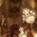 Touring the historic theaters at #BringBackBroadway in #DTLA This is Los Angeles Theater lobby. http://t.co/CqcNqduEwL