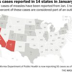 Amid growing vaccination debate, the 14 states with reported measles cases in 2015 http://t.co/SDWP8LkQAi http://t.co/fi8gBa252K