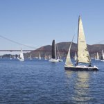 San Franciscos famous #ThreeBridgeFiasco... 365 entries this year! #sailing #sf http://t.co/xq9HNgvCYM