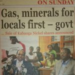 "Dr. Mengi must be happy now. ""@landaffairs: New #Tanzania minister: Gas and mines are for Tanzanians http://t.co/sfxVzLSLFM"""