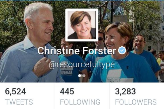 "awks. ""@TheMurdochTimes: Ouch! Tony Abbott's own sister changed Twitter banner to pic of her with @TurnbullMalcolm http://t.co/LE2kPwteOO"""