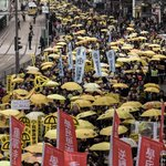 Tens of thousands of demonstrators march for democracy in Hong Kong http://t.co/o7Nn7FFO4Q