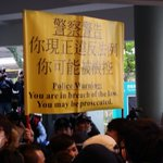 Hit first serious yellow banner #occupyhk #TaiPo 16:40 http://t.co/iBZVxDSdNV