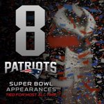 Today the Patriots will tie an @NFL record with their 8th Super Bowl appearance. http://t.co/43JkzfK0d8