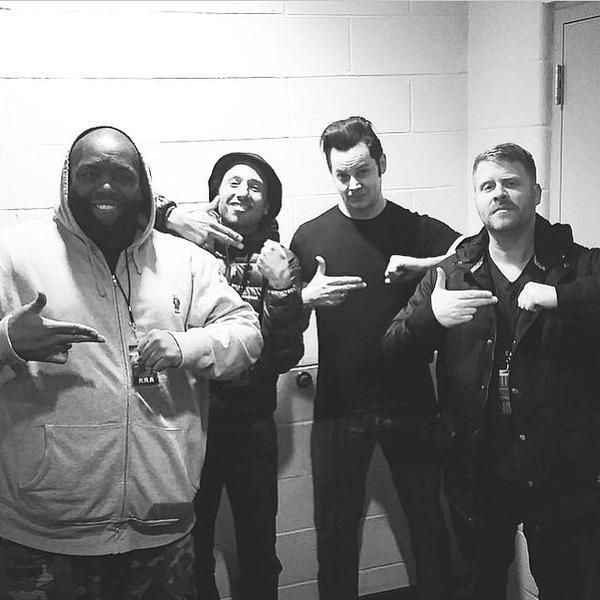 Happy Birthday Month, here\s Run the Jewels, Zack de la Rocha, and Jack White doing the RTJ sign