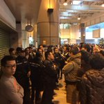 Continued shouting/chaos at Tai Po MTR. #occupyHK #UmbrellaRevolution http://t.co/RzSSHA0482