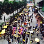 Lower numbers than expected at todays democracy march in #HongKong. Where next for the umbrella movement? http://t.co/SknriCokgj