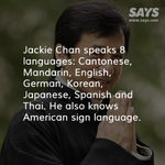 Jackie Chan can speak in 8 languages. Meanwhile, hes now Datuk Jackie Chan: http://t.co/uQ32u5hHXV #datukchan http://t.co/GDjtKguX3N