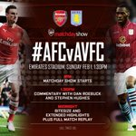 Normal service resumes and our #AFCvAVFC Matchday Show is underway. Tune in for the build-up: http://t.co/hgOp3sVdA7 http://t.co/wepLu1roLg