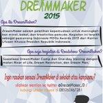 @iloveaceh Ingin mengikuti one-day training dari DreamMaker?Ayo mention nama sekolah/kampusmu ke akun @DreamMaker_ID http://t.co/qPqza8MCtH
