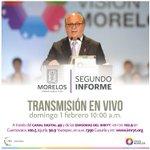 Sigue en vivo por http://t.co/XSYpx6xPOb desde las 10 am el #2InformeMorelos del gobernador @GracoRamirez #Morelos http://t.co/guOevNKJh6
