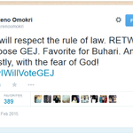 """Digging his grave """"@nnenna: Reno! Reno!! Reno!!! How many times did I call you? #WhoSendYou #NigeriaDecides http://t.co/MIWwVc2m11"""""""